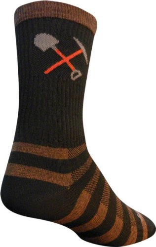 Sock Guy Wool Bike Sock - SockGuy Trail Work Wool Sock One Color, L/XL - Men's