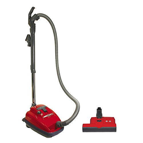 SEBO 9687AM Airbelt K3 Canister Vacuum with ET-1 Powerhead and Parquet Brush, Red by Sebo by Sebo
