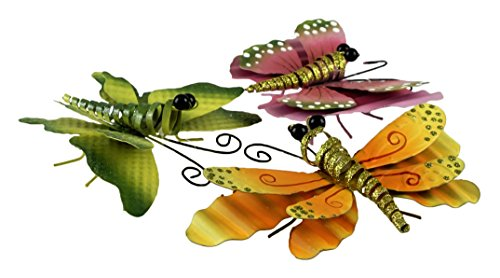 Party Explosions Spring Butterfly & Dragonfly Decorative Metal Pot Clinger Figurines - Set of -