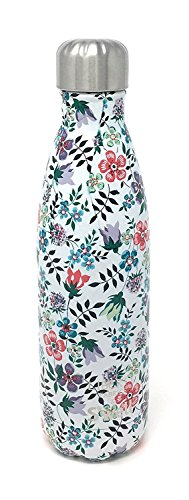 Starbucks Print (Starbucks Christmas 2017 Swell Insulated Water Bottle w/ Liberty of London Fabrics Original Artworks with floral and paisley prints (Pink Flowers))