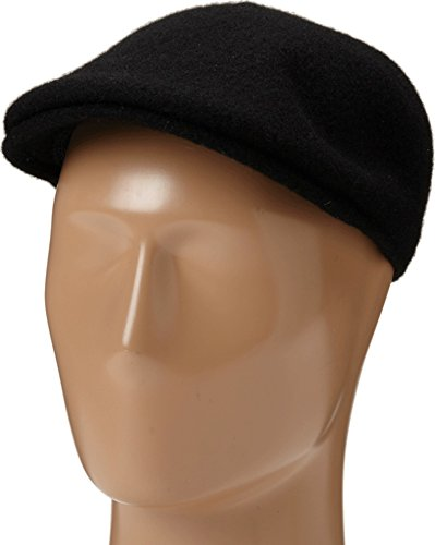 Kangol Men's Seamless Wool 507 Ivy Cap, Ergonomic, Contoured Fit, Black (Large)