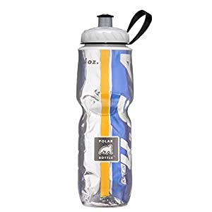 Polar Bottle Insulated Water Bottle (Gold/Blue) (24 oz) - 100% BPA-Free Water Bottle - Perfect Cycling or Sports Water Bottle - Dishwasher & Freezer Safe