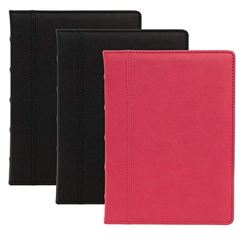 (C.R. Gibson (Set of 3) Jumbo Leatherette Journal for Women, Journal for Men: 400pg Large Writing Journal, Ruled Journal, 7.3