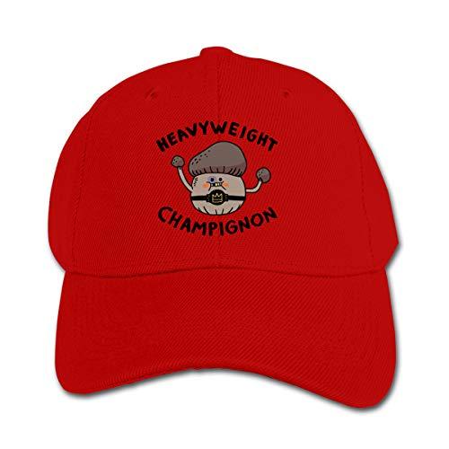 - Heavyweight Champignon Children Toddler Infant Cap Hat Peaked Baseball Hats Red