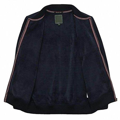 Mens Autumn Winter Jacket Casual Stand Collar Windbreaker Fleece Coat Male Plus Size M-3XL chaqueta hombre at Amazon Mens Clothing store: