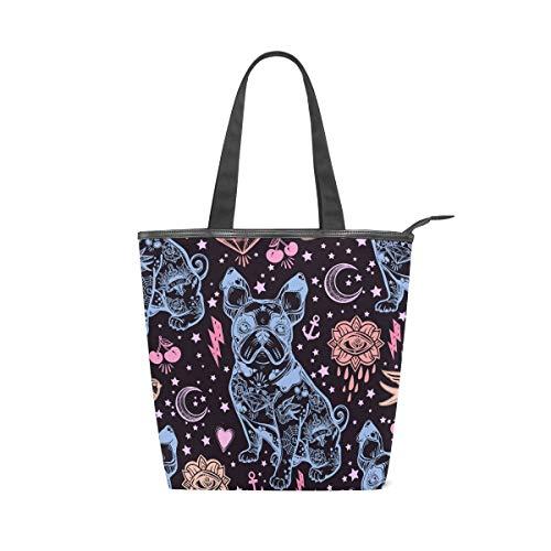 Talla Multicolor Bolso 001 Tela De Totalbag Mujer Bennigiry Única Para ZF0x8w