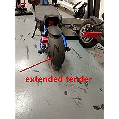 Extended mudguard rear fender set for Kaabo Mantis electric scooter
