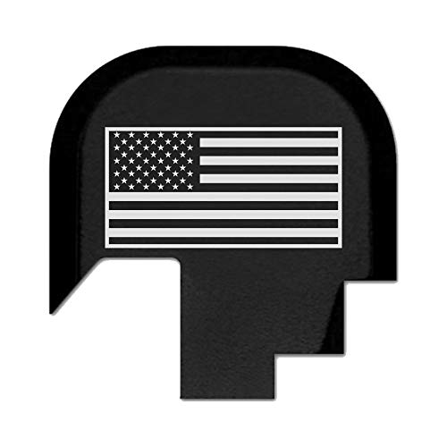 BASTION Laser Engraved Rear Cover Slide Back Plate for Smith & Wesson M&P 9/40 Shield ONLY - USA Flag