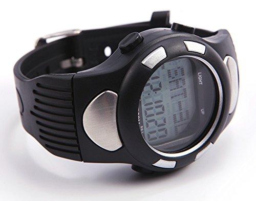tir en 3D de remise en forme Sport Watch Pulse moniteur de fréquence cardiaque avec podomètre compteur de calories (argent)