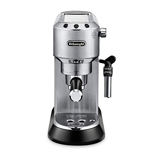 Delonghi Dedica DeLuxe EC685M Ultra Compact Manual Espresso Machine & Cappuccino Maker – Stainless Steel
