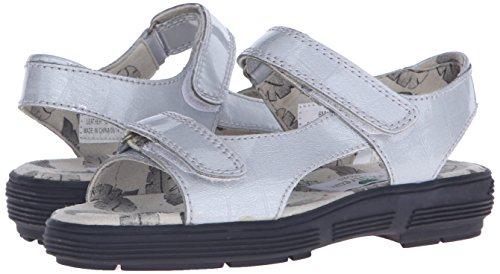 Golfstream Women's Two Strap Sandal Golf Shoe, Tuscany Faux Crocodile/Silver, 5 M US by Golfstream (Image #6)