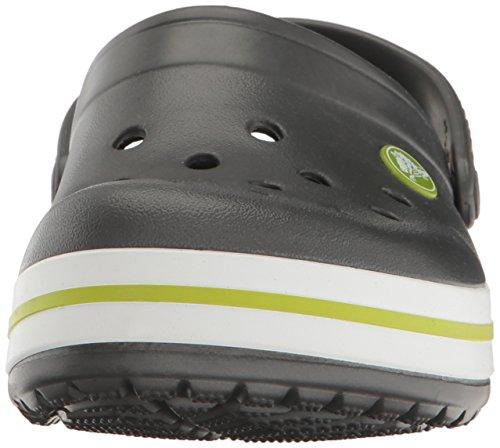 crocs Unisex-Kinder Crocband Clog Kids Grau (Graphite/Volt Green)