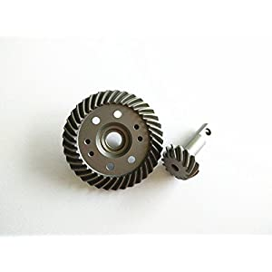Hard Chrome Steel Helical Spiral Differential Ring/Pinion Gear Set (37t/13t) Upgrade Parts replaces 1:10 RC Car 5379X