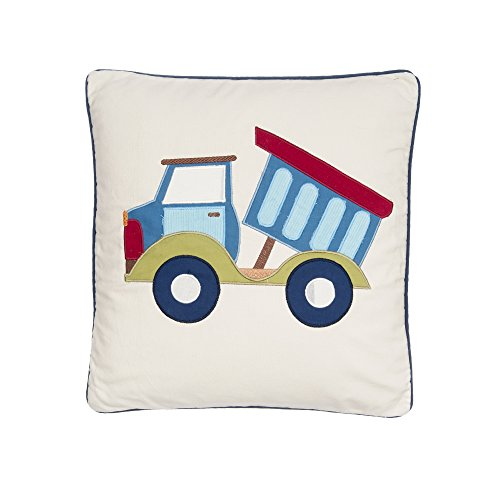Levtex Trucks Square Appliqued Pillow with Dump Truck