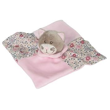 Bengy Doudou Bengy chat Marianne gris et rose fleur bleu ...