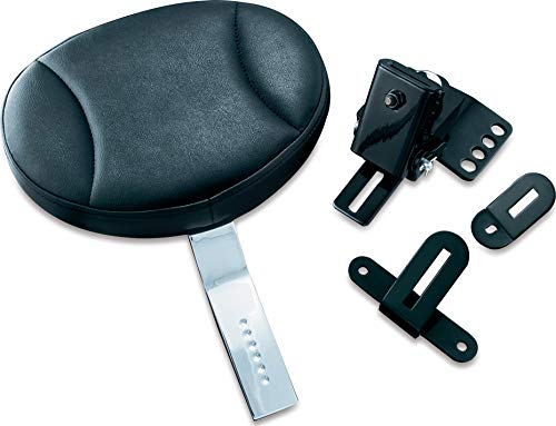 Kuryakyn 1670 Plug-In Adjustable Driver Seat Backrest for 1997-2019 Harley-Davidson Motorcycles (Best Motorcycle Accessories 2019)