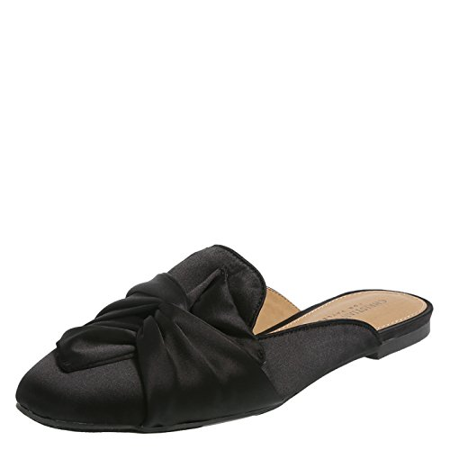 Christian Siriano for Payless Black Women's Ada Twist Mule 9 (Designer Womens Designer Shoe)