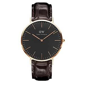 Daniel Wellington Men's Classic Black York Watch, Rose Gold, 36mm