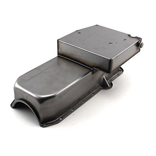 Track Oil Circle Pan (Procomp Electronics PCE300.1024 Chevy SBC 350 7Qt Circle Track RH Side 2Pcs Rms Unplated Oil Pan Wet)