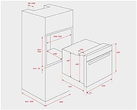 Teka CNL 6415 PLUS 385 m³/h Semintegrada (extraíble) Acero inoxidable A - Campana (385 m³/h, Recirculación, C, 52 dB, 64 dB, Semintegrada (extraíble)): Amazon.es: Grandes electrodomésticos
