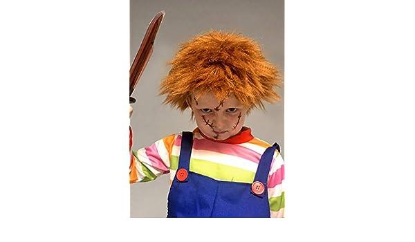 Magic Box Peluca de Jengibre desordenado Estilo Chucky para niños: Amazon.es: Juguetes y juegos