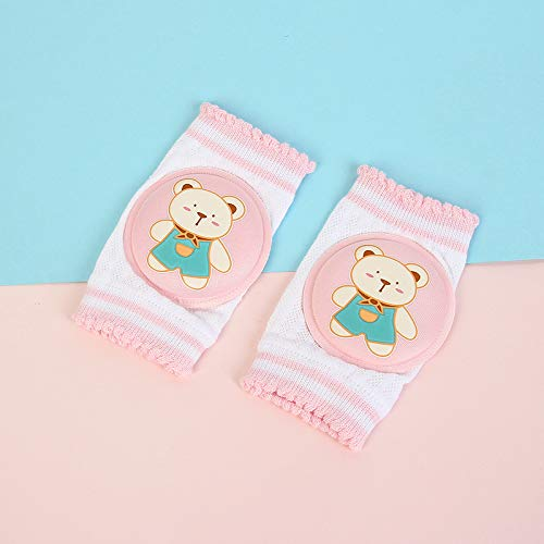4 Pairs Baby Crawling Knee Pads,Crawling Walking Knee pads Knee Protection Pads for Toddler