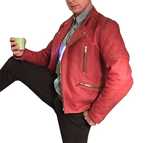 Samuel Barnett Dirk Gently's Holistic Red Leather Jacket