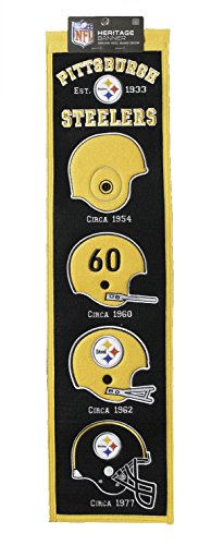 (Heritage Wool NFL Authentic Pittsburgh Steelers Banner 8