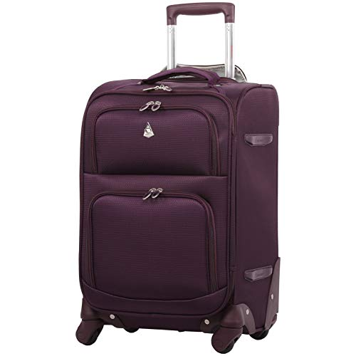 Lightweight On Carry - Large Capacity Maximum Allowance 22x14x9 Airline Approved Delta United Southwest Carry On Spinner Luggage Cabin Bag | Rolling Travel Suitcase Lightweight Soft Shell Trolley | 19.5x14x9in Body Size