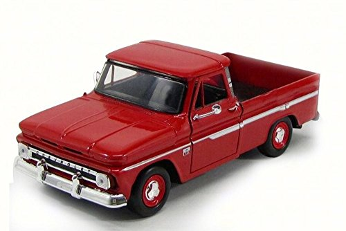 1966 Chevy C10 Fleetside Pick-Up Truck, Red - Motor Max 73355AC/R - 1/24 Scale Diecast Model Toy Car Chevy Fleetside Pickup