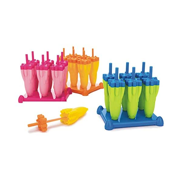 Danigrefinb Rocket - Stampo per cubetti di ghiaccio, 6 scomparti, per budini, gelatine, cubetti di ghiaccio, vaschetta… 3 spesavip
