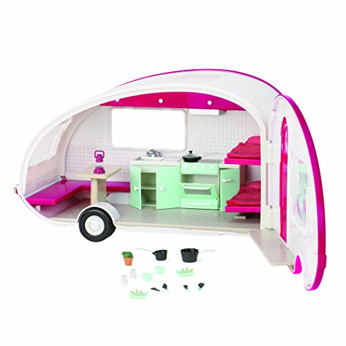 Lori by OG Fuschia Roller Glamper RV Camper Vehicle for Doll, 6