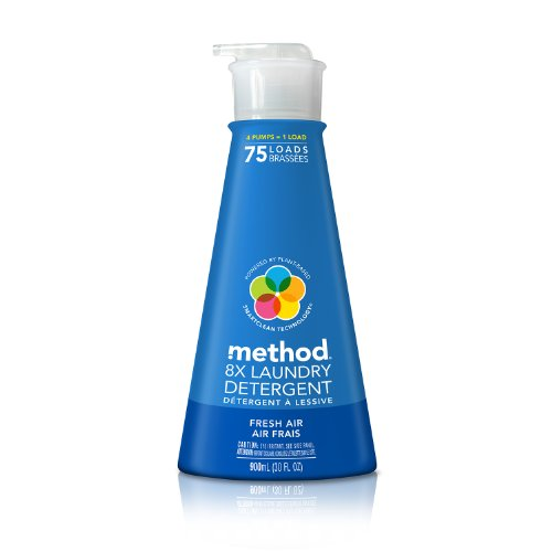 Method Naturally Derived 8X Concentrated Laundry Detergent, Fresh Air, 75 (Laundry Air)