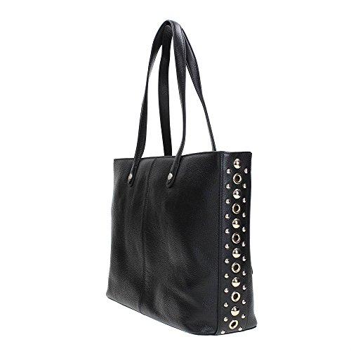 4b5ddfccca56f ... Love Moschino shopping bag Embossed Pebble Calf black ...