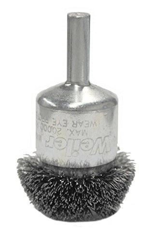 Weiler 10035 Circular Flared Crimped Wire End Brush, 1-1/4