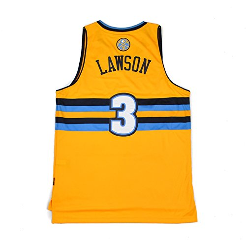 Denver Nuggets Adidas NBA TY Lawson #3 Alternate Swingman Jersey (Gold) XL - Gold Swingman Basketball Jersey