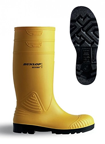 S5 YELLOW Agua ZWART ACIF Dunlop A442031 Unisex Yellow 48 de KNIE Botas P4COq5