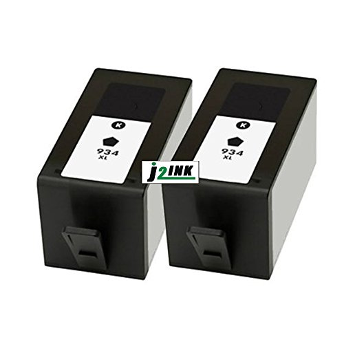 j2ink 2 unidades 934 X L High Yield Black Cartuchos de tinta para HP OfficeJet 6812 6830 6815 6835 6230