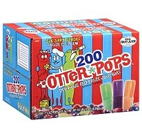 Otter Pops 200 Count Case Made with Real Fruit Juice 6 Flavors, Kosher