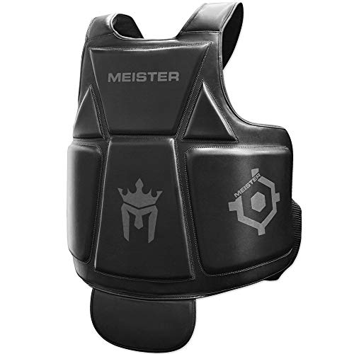 Meister Body Armor - MMA & Boxing Chest Guard w/Groin Protector - Adult - Black