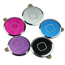 5 PCS Aluminium Metal Home button Sticker For iPhone iPod Touch 4 4G 5 Nano 7