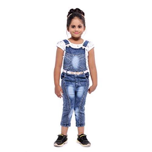 41PGBhhWCbL. SS500  - Aayat Fashion Girls Slim Fit 3/4 Pant Beautiful Embroidery Dungaree