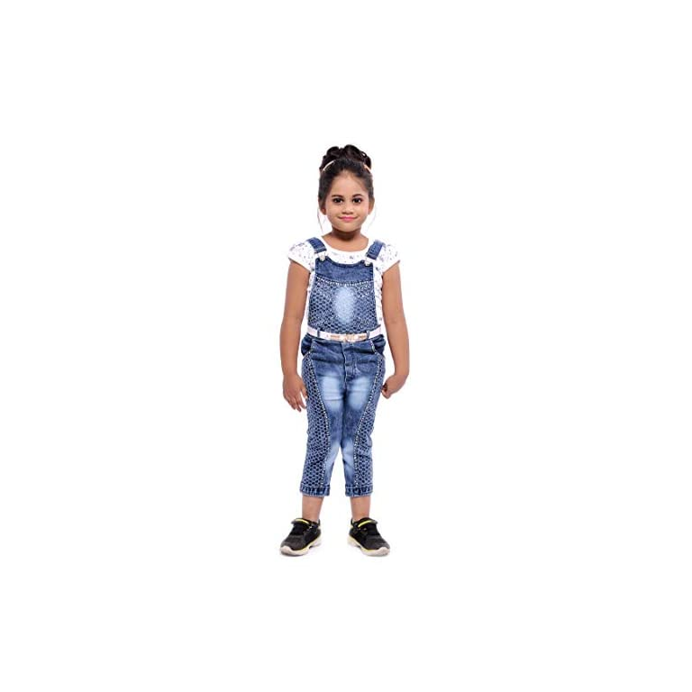 41PGBhhWCbL. SS768  - Aayat Fashion Girls' Knee Length Dungaree
