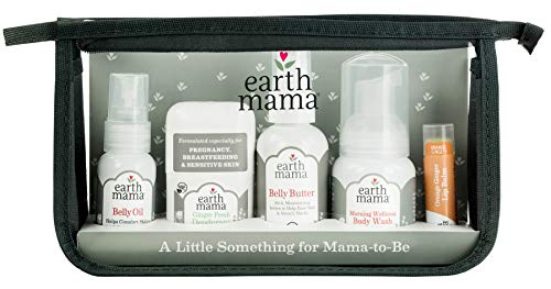 (A Little Something for Mama-to-Be Gift Set by Earth Mama | Natural Pregnancy and Maternity Gift for Expectant Mothers, 5-Piece Set)