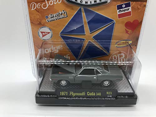 M2 Machines by M2 Collectible Detroit-Muscle 1971 Plymouth Cuda 340 1:64 Scale R23 13-08 Gray Details Like NO Other!