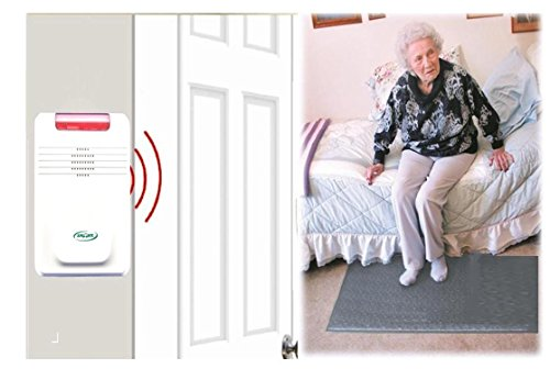 Smart Caregiver Cordless Floor Mat (No Alarm in Patient's Room),Gray,24 x 48