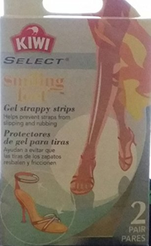 Kiwi Select Smiling Feet Gel Strappy Strips 2 pairs by Sara Lee