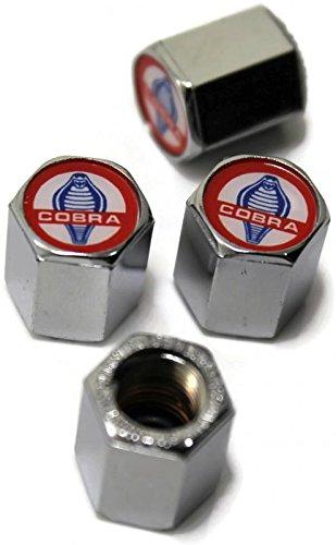 Cobra Chrome Wheel - Classic Mustang Cobra Chrome Wheel Air Tire Valve Stem Cap Tool ABS Plastic