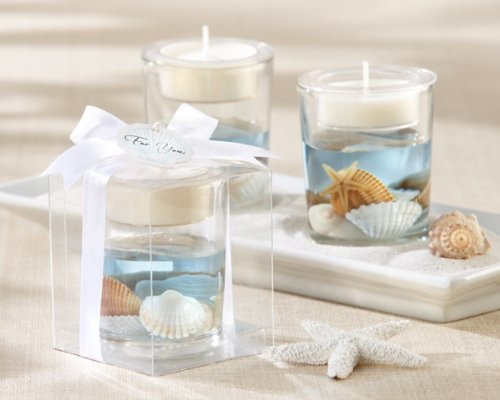 Seashell' Gel Tealight Holder - Total 48 sets by Kateaspen