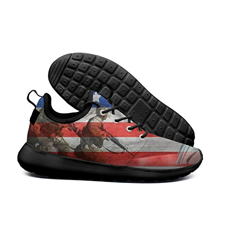 DEEEWKF US Flag American Soldier American Soldier Men's 2018 Ultra Lighweight Mesh Sports Shoes - Soldier American Shoes